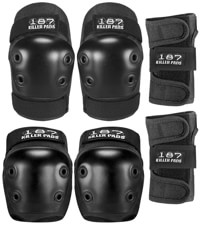 187 Killer Pads Six Pack Junior Pad Set - black