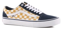 Vans Old Skool Pro Skate Shoes - (checkerboard) dress blues/ochre