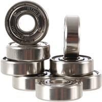 Diamond Supply Co Rings Hella Fast Titanium Skateboard Bearings - titanium