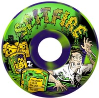 Spitfire Formula Four Classic Skateboard Wheels - toxic apocalypse green/purple swirl afterburners (99d)