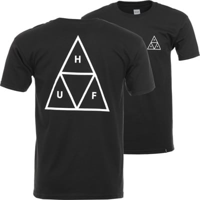 HUF Essentials Triple Triangle T-Shirt - black - view large