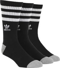 Adidas Roller 3-Pack Sock - black/white/heather grey