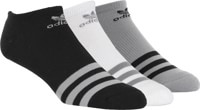 Adidas Roller No Show 3-Pack Sock - light onix/black/white