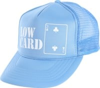 Lowcard Original Logo Mesh Trucker Hat - all blue