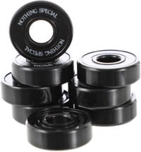 Nothing Special Black ABEC 9 Skateboard Bearings - black
