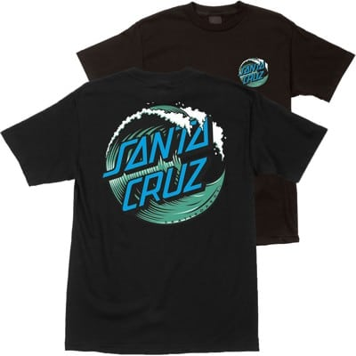 Santa Cruz Kids Wave Dot T-Shirt - black - view large