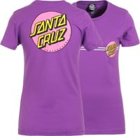 Santa Cruz Women's Other Dot Fitted T-Shirt - purple berry