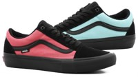 Vans Old Skool Pro Skate Shoes - (asymmetry) black/rose/blue