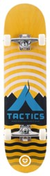 Tactics Base Camp 7.75 Complete Skateboard - yellow deck / raw trucks / white wheels