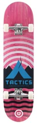 Tactics Base Camp 8.0 Complete Skateboard - pink deck / raw trucks / white wheels