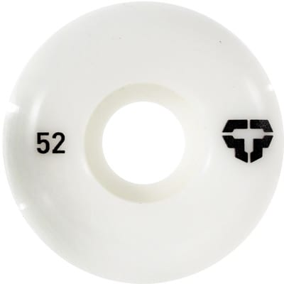 Tactics T-Logo Skateboard Wheels - white 52 (99a) - view large