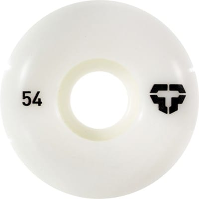Tactics T-Logo Skateboard Wheels - white 54 (99a) - view large