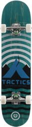 Tactics Base Camp 7.5 Complete Skateboard - teal deck / raw trucks / white wheels