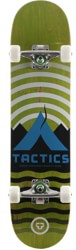 Tactics Base Camp 8.25 Complete Skateboard - lime deck / raw trucks / white wheels