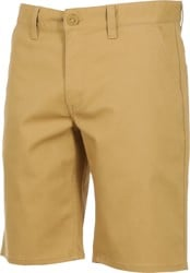 Brixton Toil II Hemmed Chino Shorts - wheat