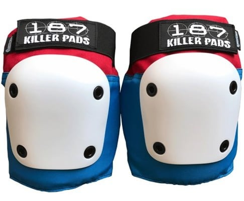 187 Killer Pads Fly Knee Pads - red/white/blue - view large