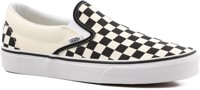 Vans Women's Classic Slip-On Shoes - black and white checker/white
