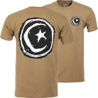 Foundation Star & Moon T-Shirt - light olive