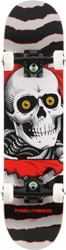 Powell Peralta Ripper One-Off 7.0 Soft Wheel Complete Skateboard - grey/black