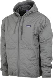 Patagonia Diamond Quilt Bomber Hoody Jacket - hex grey