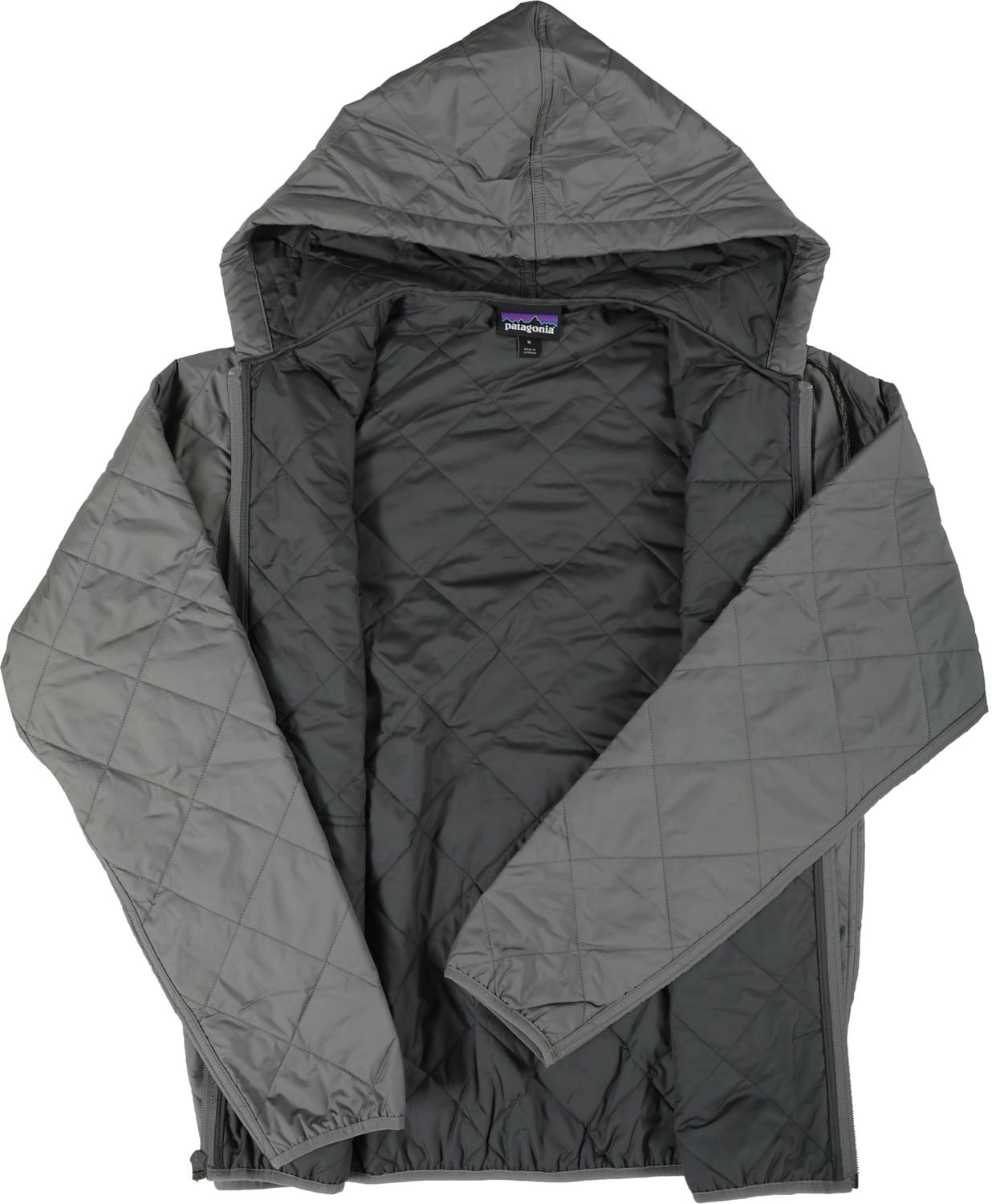 Patagonia Diamond Quilt Bomber Hoody Jacket Hex Grey