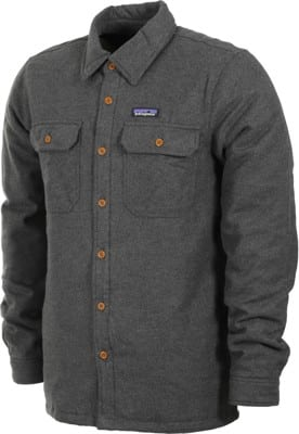 Patagonia Insulated Fjord Flannel Jacket - forge grey - view large