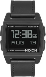 Nixon Base Leather Watch - all black