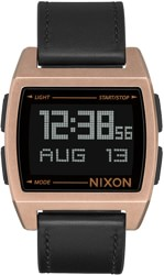 Nixon Base Leather Watch - antique copper/black