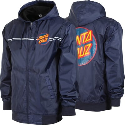 Santa Cruz Dot Hooded Windbreaker - navy - view large