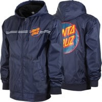 Santa Cruz Dot Hooded Windbreaker - navy