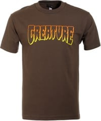 Creature Logo Outline T-Shirt - dark chocolate