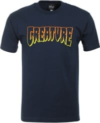 Creature Logo Outline T-Shirt - navy