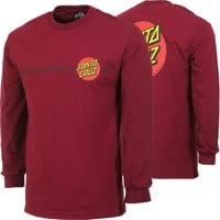 Santa Cruz Classic Dot L/S T-Shirt - burgundy