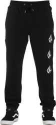 Volcom Deadly Stone Fleece Sweatpants - black