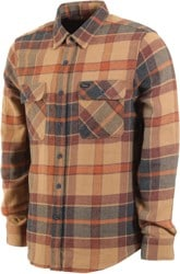 Brixton Bowery Flannel - cream/copper