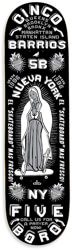 5boro Cinco Barrios 8.25 Skateboard Deck - black