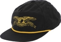 Anti-Hero Basic Eagle Snapback Hat - black/gold