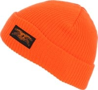 Anti-Hero Stock Eagle Label Cuff Beanie - safety orange/black