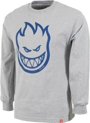 Spitfire Bighead L/S T-Shirt - athletic heather/blue