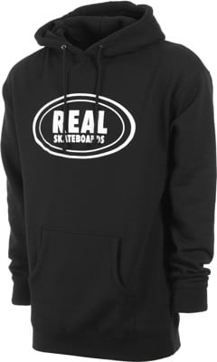 Real Oval Hoodie - black/white - view large
