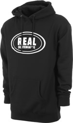 Real Oval Hoodie - black/white