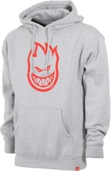 Spitfire Bighead Hoodie - grey heather/red print