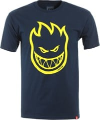 Spitfire Bighead T-Shirt - navy/yellow-gold print