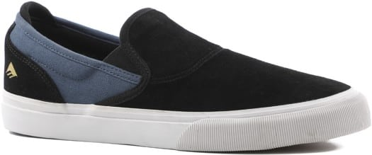 Emerica Wino G6 Slip-On Shoes - black/blue (leabres) - view large