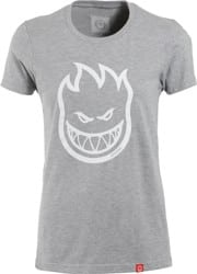 Spitfire Women's Bighead T-Shirt - athletic heather/white