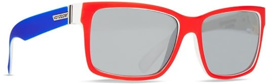 Von Zipper Elmore Sunglasses - red-white-navy/silver chrome lens - view large