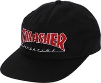 Thrasher Outlined Snapback Hat - black