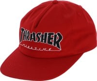 Thrasher Outlined Snapback Hat - red