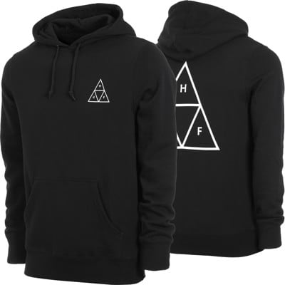 HUF Essentials Triple Triangle Hoodie - black - view large