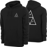 HUF Essentials Triple Triangle Hoodie - black